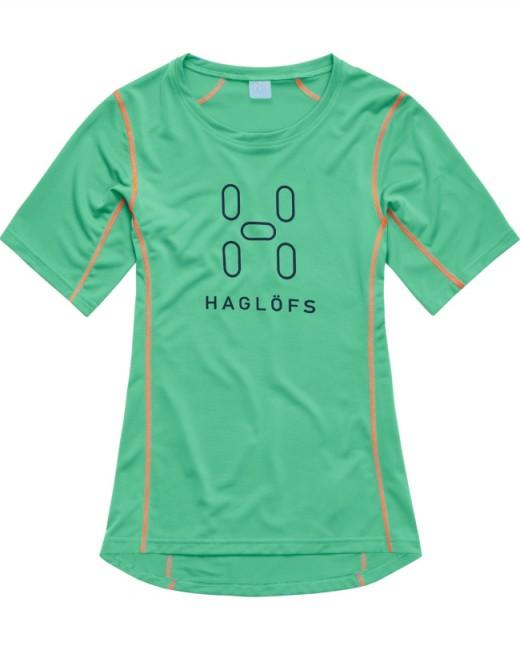 En let og enkel T-Shirt til damer fremstillet i materialer med gode fugtspredende egenskaber, der gør at den holder dig tør og komfortabel. En virkelig alsidig trøje, som kan anvendes både til sportsaktiviteter som klatring og løb, eller i fritiden som en kølende og behagelig t-shirt en varm sommerdag.Materiale: 100% Polyester.Egenskaber:Effektiv transport af sved.Flatlocksømme.Forskudte skulder- og sidesømme for øget komfort.God bevægelsesfrihed.Reflekterende detaljer for og bag.Materialet har gennemgået LAVA behandling, hvilket er Haglöfs egen Bluesign® godkendte anti lugt behandling baseret på mineraler fra lavaaske. Vægt: 110 gram (størrelse M).