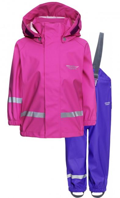 Weather Report Wau Minis regntøj sæt, pink thumbnail