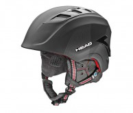 HEAD Sensor skihjelm, Sort/rød