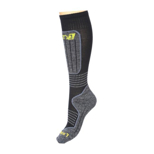 DELUNI tekniske skistrømper sikrer maximal thermisk regulering og comfort.Egenskaberabsorberer fugt og holder fødderne tørre.holder maximalt på varmenelastiske elementer i strømperne sikrer en perfekt pasformtrykabsorberende lag på kritiske områder.ikke-generende