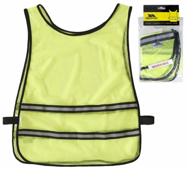 Refleksvest i neon gul farve, med 2 refleksbånd rundt om.Onesize, med elastik i siderne.100% Polyester.