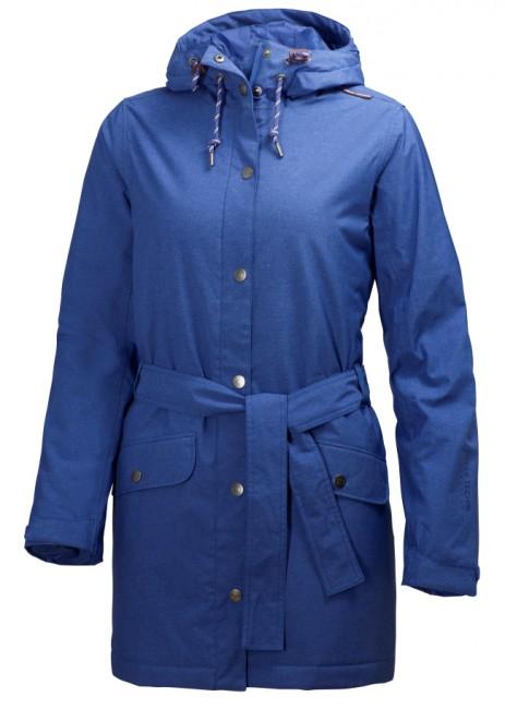 Denne W Lyness frakke er en vinter regnjakke til damer. Frakken har rigtig god åndbarhed, hvilket gør, at du holdes tør og varm på kroppen. Jakken kan sagtens anvendes som hverdagsjakke.Jakken har en hellang lynlås med stormklap påmonteret trykknapper, en justerbar hætte, justerbare manchetter og to frontlommer med knap lukning. Jakken er figursyet og kan justeres i taljern med det tilhørende bælte for at sikre den gode pasform.Materiale: Ydermateriale: 100% polyesterFor: 100% polyamidIsolering: Primaloft® 60gJakken er fremstillet i 2-lags microlignende materiale som giver en rigtig god bevægelsesfrihed samtidig med at den hurtigt tørrer. Alle syninger og sømme er tapede, hvilket tillige sikre at du forbliver tør. Funktioner :Ventilation på bagsiden af jakkenHelly Tech® ProtectionYKK lynlåse Længde: Ryglængde (Str. M) 84cm