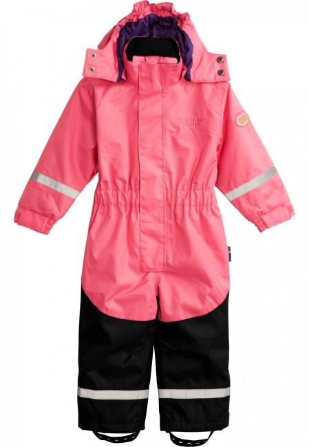 Heldragt/skidragt til børn med varm isolering og tapede syninger. Fremragende som skidragt til leg i sneen og som almindelig flyverdragt til de kolde dage i vinterhalvåret.3.000 mm membran.Vandtæthed: 3.000 mm (vandsøjletryk)Åndbarhed: 3.000 mvt
