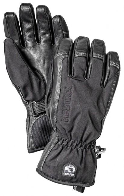 Billede af Hestra Army Leather Softshell skihandsker, sort