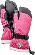Hestra Gauntlet 3-finger skihandsker, junior, pink