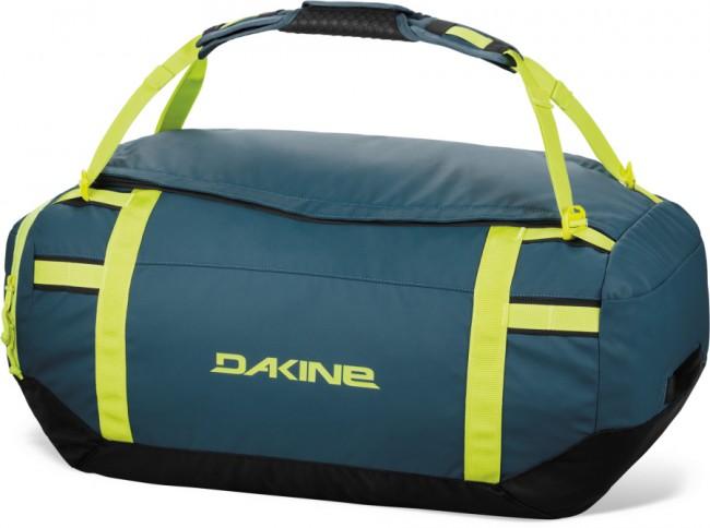Dakine Ranger Duffle 60L er en rummelig og særdeles slidstærk rejsetaske til alle former for bagage og udstyr. Tasken kan let pakkes sammen i den ene lomme, så den fylder minimalt ved opbevaring.Egenskaber og funktioner:U-formet åbning der giver nem adgangLomme med lynlås i den ene ende, som tasken kan pakkes sammen iIndvendig småtingslomme i mesh materialeHoldbar, vejrbestandigt konstruktionAftagelige og polstrede rygsæk stropperMateriale: 1200D Polyester with PU coating og 1260D Ballistic NylonVolumen: 60 Liter Mål: 61 x 36 x 30 cmVægt. 1,0 kg