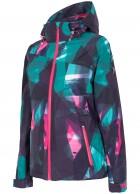 4F Chloe skijakke, dame, med print