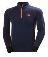 Helly Hansen Warm Flow High Neck, 1/2 Zip undertrøje, blå