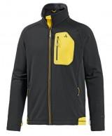 Schöffel Karwendel Zip In, fleece skitrøje, sort/gul