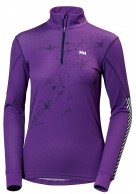 Helly Hansen W Active Flow Graphic 1/2 Zip, lilla print