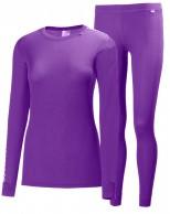 Helly Hansen W Comfort Dry skiundertøj, sæt, dame,lilla