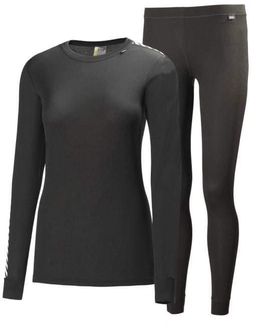 Helly Hansen W Comfort Dry skiundertøj, sæt, dame, sort thumbnail