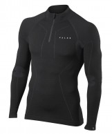 Falke Wool-Tech Zip Shirt Comfort, herre, sort