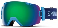 Smith I/OX skibrille, Light Blue/Green Sol-X Mirror
