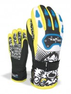 Level Junior, handsker, sort/gul