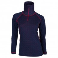 Ulvang 50FiftyTurtle neck w/zip Ws, damer, New Navy/Persian Red