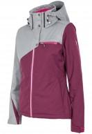 4F Ava skijakke, dame, grå/violet