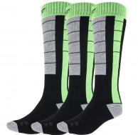 4F Ski Socks, billige skistrømper, herre, 3-par, sort/grøn