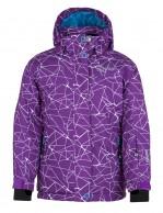 Kilpi Niesko JG junior pige skijakke, violet med print