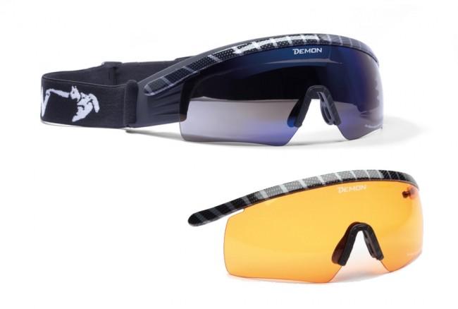 Skibriller beregnet specielt til nordiske skidicipliner. Selve glassene kan klappes op, når der ikke er behov for brillerne, eller når man løber gennem mørke passager. Der medfølger ekstra orange linse, der er specielt velegnet til skyet vejr. Linse (Carbon ramme): Smoke Blue Mirror (+ ekstra orange linse) Specifikationer og features:100% UV-beskyttelse. Anti-dug behandlet Smart italiensk designItalienske Demon er blandt vor mest populære mærker af skibriller og det er ikke uden grund. Brillerne er af særdeles høj kvalitet i forhold til prisen og i november 2012 var Demon også vinderen af 24 timers test af skibriller, med prædikatet