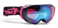 Demon Storm skibriller, sort/fucsia