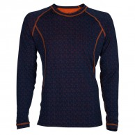 Ulvang 50Fifty Round neck Ms, herrer, New Navy/Red Orange