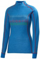 Helly Hansen W Lifa, Warm, 1/2 Zip undertrøje, dame, Racer Blue