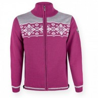 Kama Nordisk striksweater m. Windstopper, Bordeaux