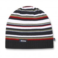 Kama Street beanie, stribet, Sort