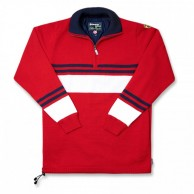 Kama striksweater med Gore Windstopper, Rød