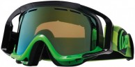 VonZipper Porkchop skibriller, Black Lime/Locust Chrome