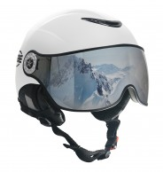 Osbe Proton Sr Snow, skihjelm med visir, hvid