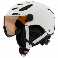 Alpina Jump JV skihjelm med Visir, Mat hvid