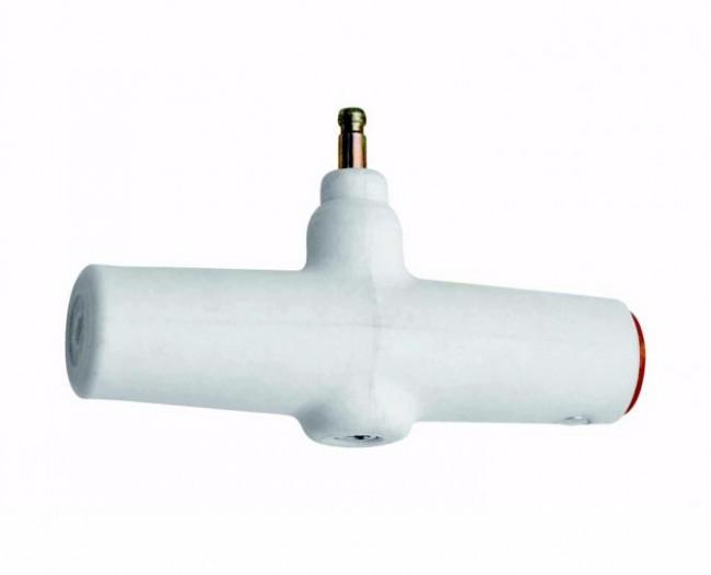 Håndtag til rygsække med ABS lavinesystem.Dette kan ikke genbruges, da der sker en eksplosion ved udløsning af ABSen, da håndtaget indeholder krudt.