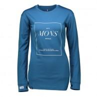 Mons Royale Boyfriend LS, skiundertrøje, Blue Steel