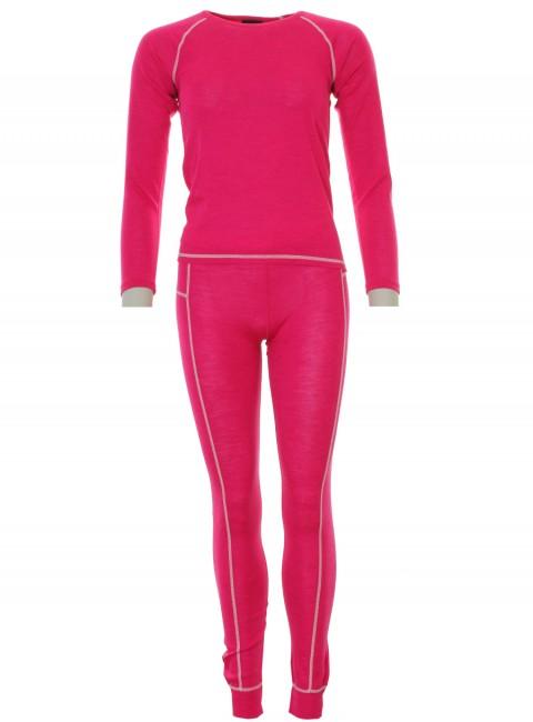 Typhoon uld skiundertøj, piger, pink thumbnail