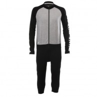 Mons Royale Supermons One Piece, skiundertøj, Black Grey Marl