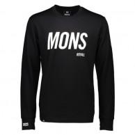 Mons Royale Original LS, skiundertrøje, Black