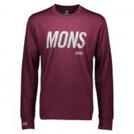 Mons Royale Original LS, skiundertrøje, Burgundy