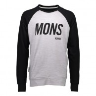 Mons Royale Covert Tech Sweat, skitrøje, Grey Marl