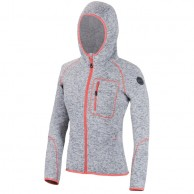 Cairn Roselend W, fleece jakke, dame, grå/coral