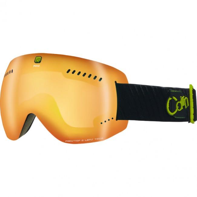Prime er en moderne, rammeløs skibrille med et fedt design og masser af gode features. Skibrillen kommer med en anti-dug behandlet kategori 3 dobbeltlinse, som excellerer i solskin og lyse forhold. Det rammeløse design bidrager desuden til at holde vægten helt nede på denne skigoggle.Dobbeltlinsen beskytter naturligvis mod alle UV-stråler, har masser af ventilation og er anti-dug behandlet, så den aldrig dugger til - ligegyldigt hvor meget du sveder. Desuden har denne skibrille Cairns Max View, som giver et perifært udsyn, der siger spar to.Modellen er en størrelse medium/large og passer således de fleste ansigtsformer og -størrelser. Brillen er naturligvis kompatibel med langt de fleste hjelme.Specifikationer og featuresInkl. 1 dugfri dobbeltlinse (kategori 3)Anti-dug og anti-ridse behandlet linseBeskytter mod 100% af solens UVA- og UVB-strålerTo lag skum sikrer høj komfort