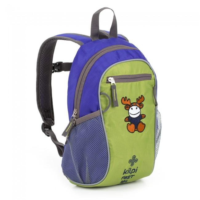 Kilpi First er en børnerygsæk i sjove farver og slidstærke materialer.Rygsækken har 10 liter plads fordelt på en hovedlomme og en mindre forlomme. Derudover har tasken sidelommer i mesh, som er geniale til en drikkedunk eller lignende, og loops til legetøj. Tasken har desuden brede, polstrede skulderstropper, så tasken er ekstra behagelig at gå med til og fra skole, og reflekser, så barnet altid bliver set i trafikken.Specifikationer og features:Volumen: 10 literMateriale: 100% polyester1 hovedlomme1 forlommeMesh sidelommerLoops til legetøj