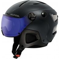 Alpina Attelas Visor VHM, skihjelm med visir, mat blå