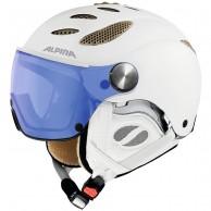 Alpina Jump JV Varioflex skihjelm med Visir, hvid