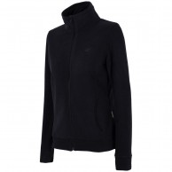 4F dame fleece jakke, sort