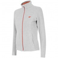 4F dame fleece jakke, light grey