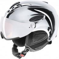 Uvex hlmt 300 skihjelm med visir, krom sølv