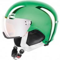 Uvex hlmt 500 skihjelm med visir, grøn krom