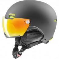 Uvex hlmt 500 skihjelm med visir, sort/lime